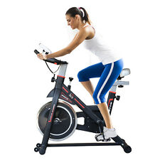 HOMCOM Belt-Driven Exercise Bike with LCD Display - Black (A90-144)