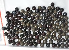 Box of 145 Marbles 1 inch Beautiful Burgundy Tan Blue Glass Unknown Type