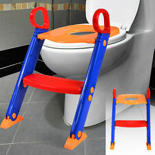 Kids Potty Trainer Toddler Baby Toilet Training Seat Chair W/ Step Ladder Stool