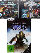 Star Wars-The Force Unleashed + + BATTLEFRONT PC + republic commando PC