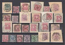 40076) KONVOLUT 1875-1900 Stempel-Lot