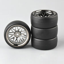 4Pcs 62mm Drift Tires PP0477&Wheel BBSM For HSP HPI RC 1/10 Racing on Road Car