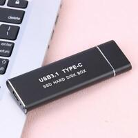 YouN Festplattengehäuse SSD USB3.1 Typ C bis M.2 NGFF Externes Festplatteng