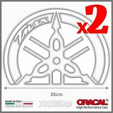 2x White BIG Diapason Scudo Tmax 500 Yamaha 01-07 ADESIVI PEGATINA STICKERS