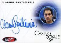 James Bond Heroes & Villains Claudio Santamaria as Carlos Autograph Card A147