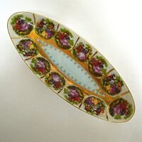 Vintage Arnart Courting Couple / Courtship Relish Celery Dish Tray Blue Mark