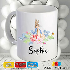 Personalised Peter Rabbit 10oz Mug • Any Name • Great Gift for any occasion