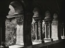 1927 Vintage FRANCE Elne Perpignan St Julia Cathedral Cloister Photo ~ HURLIMANN