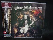 YNGWIE MALMSTEEN World On Fire JAPAN SHM CD Alcatrazz Steeler NZM Hear 'N Aid