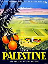 TRAVEL VISIT PALESTINE JERUSALEM ORANGE ISRAEL VINTAGE POSTER ART PRINT 1074PY