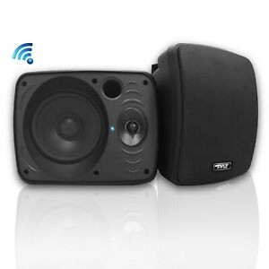 "NEW Pyle PDWR54BTB Pair of 600W 5.25"" Waterproof Bluetooth Active Speakers"