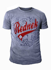 Toxico Rockabilly Tattoo Herren T-Shirt Rednek (Grau/Blau) (S-XL)