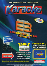 Karaoke Chartbuster Essential 450 Songs SD-Card Vol-3 Country,Standars,R&B,Rock