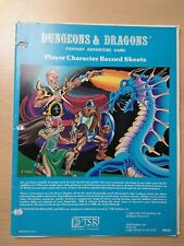 Dungeons And Dragons B/X Player Character Record Sheets