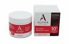 Alpha Skin Care Essential Renewal Cream 10% Glycolic AHA, 2 Ounce