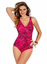 NEW MIRACLESUIT 14 44 Oceanus TANK 1 PC SWIMSUIT $150 RV Gorgeous Tangier Pink