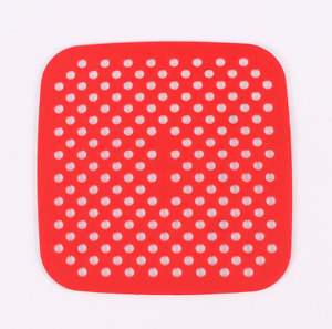 Silicone Reusable Non-Stick Mat Liner Pad For Air Fryer Square Round Replacement