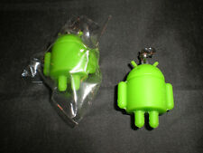 New Lot Of Rubber Robot Google Android Key Chain Charm Mini Doll Green HTC