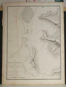 BORA BORA FRENCH POLYNESIA 1826 DUPERREY UNUSUAL ANTIQUE LITHOGRAPHIC SEA CHART