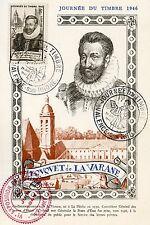 CP / MAXIMUM 1° JOUR / JOURNEE DU TIMBRE 1946 TOUQUET DE LA VARANNE / VALENCE