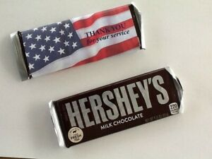 20 Veteran's and Active Service Candy Bar Wrappers - CANDY NOT INCLUDED!