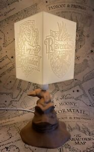 Harry Potter Sorting Hat Lamp - 4 Sided House Badges Picture Lamp Shade New Uk
