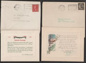 1920's & 30's H.E. Harris Christmas Card Assortment 6 Different Designs