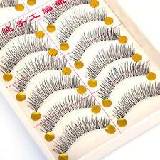 20 X Handmade Fake False Eyelash Transparent Stem Beauty Natural Look Lashes