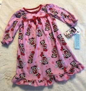 DISNEY JUNIOR Toddler Girls' Minnie Mouse Santa Nightgown Pink - 18M-Christmas