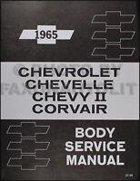 1965 Chevy II and Corvair Body Shop Manual 65 SS Nova Monza Corsa Repair Service