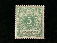 Deutsches Reich ab 1889 - MiNr. 46   Wertziffer  5 Pf, BPP geprüft  Nr.3