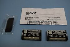 Lot of (2) RDL RADIO DESIGN LABS ST-LCR1H HIGH POWER RELAYS  (location 21D)