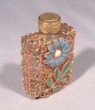 Perfume Bottle Vintage Soviet Russian Old Vintage Glass Metallic
