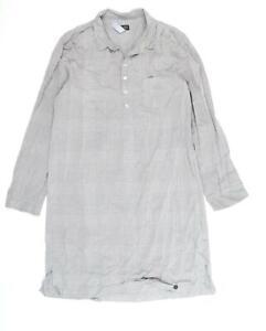 Hanro Womens Grey Check  Shirt Dress  Size M