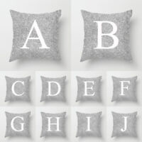 Letters Cushion Throw Silver Pink Pillow Case Cover Home Sofa Bed Car Decoration