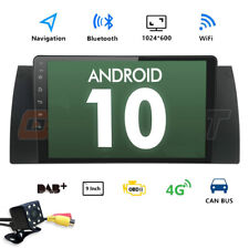 "9"" Touch Screen HD Android 10 Car Stereo Radio GPS DAB+ For BMW E39 E53 X5 M5 E"