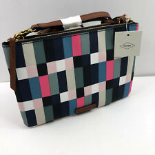 Fossil Zb7563997 Devon Small Crossbody Bag Pink Navy Black Blue Green