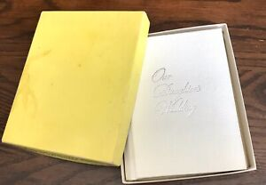C. R. Gibson Small White Our Daughter's Wedding Photo Album In Box 3.55 x 2.50