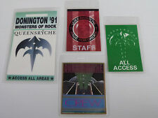 QUEENSRYCHE - Collection of FOUR Laminated Backstage Tour Passes (x4)
