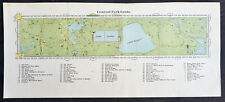 1869 J Shannon Antique Print View of New York City - Central Park Guide