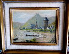 Künstlerische Malerei von 1900-1949 aus Holz mit Landschafts- & Stadt-Motiv
