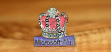 Microsoft Plus! Old Vintage Collectible Rare Promo Pin / Badge
