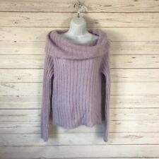 The Limited Womens XL Mohair Blend Cowl Neck Sweater Lilac Long Sleeve Ribbed