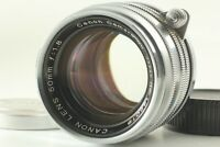 [ MINT ] Canon 50mm F/1.8 chrome Lens Leica Screw Mount LTM L39 from Japan 0938