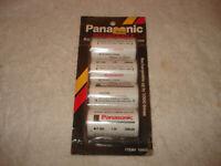 Vintage Panasonic Rechargeable Nickel-Cadmium Japan 4pcs unused package rare