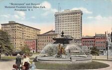Providence, Ri Rhode Island Banjotti Memorial Fountain c1910's Postcard