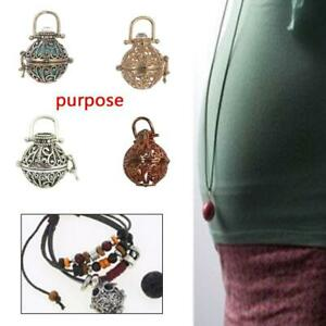 DIY Cages Hollow Ball Alloy Charms Beads Pendants Necklace Make Hand Jewelr U3P2