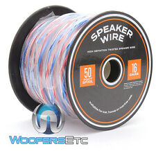 TRUE 16 GAUGE 50 FT SPOOL HIGH DEFINITION TWISTED SPEAKER CAR HOME MARINE WIRE