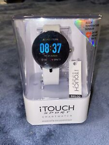 iTOUCH Sport Smart Watch Bluetooth Heart Rate Android IOS White Rubber