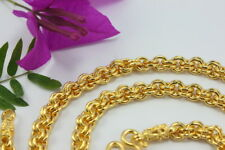 """NICE Thai Classic Double Rolo Chain 24"""" 5.4mm Baht Necklace 22K 24K Gold GP GT38"""
